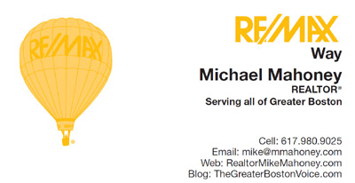 Michael Mahoney Realtor with Remax Business Card