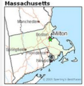 Map of Milton Mass