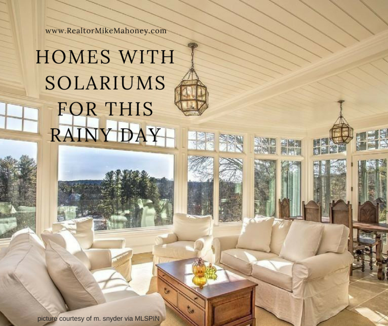 Homes in norfolk county with solariums by realtor michael mahoney